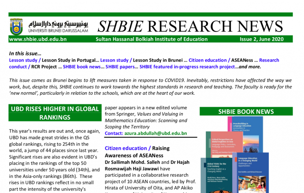 SHBIE Research News June 2020