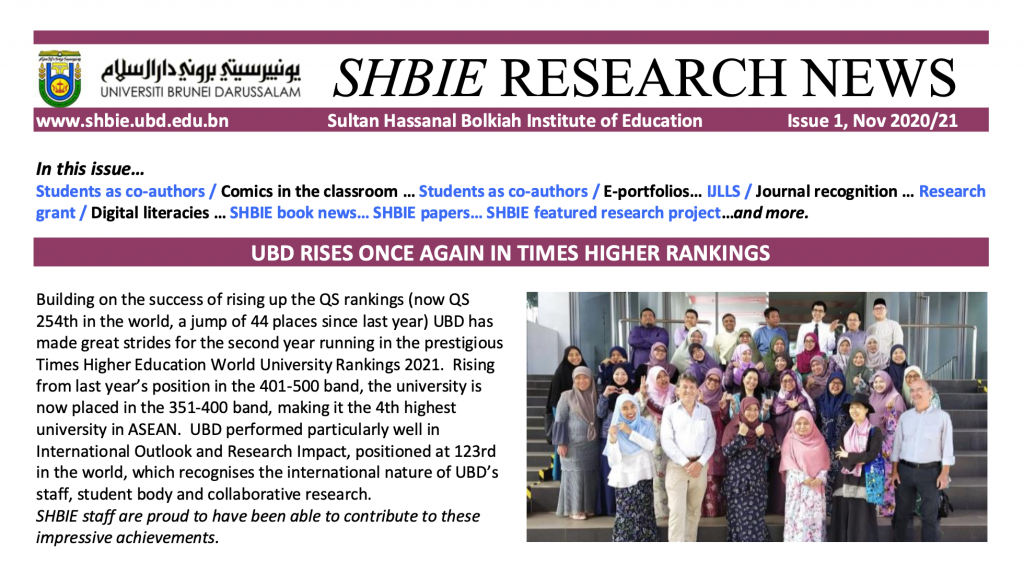 SHBIE Research News Issue 3 NOv 2020